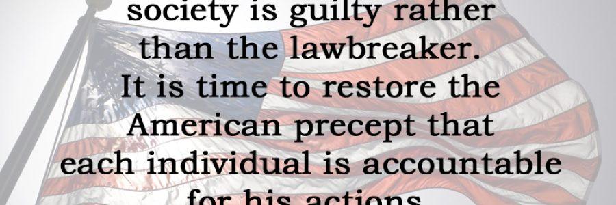 [No.30] Ronald Reagan on Individual Accountability