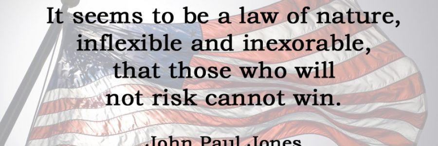 [No.33] John Paul Jones on Risk