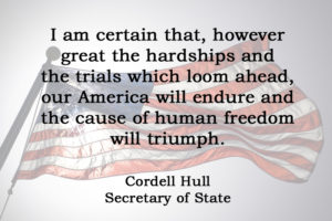 [No.29] Cordell Hull on Human Freedom